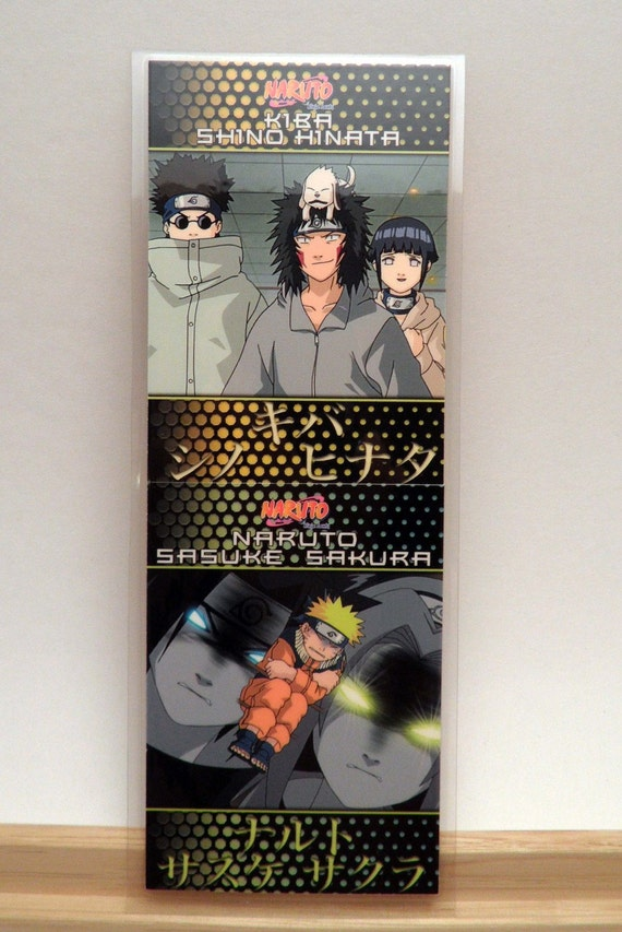 Upcycled Naruto trading cards made into Bookmark