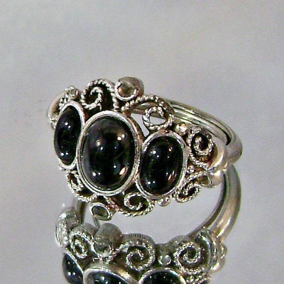 Black Oval Ring Avon