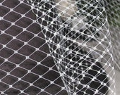 WHITE - extra wide French net - 18 inch wide- For DIY birdcage veils and fascinators