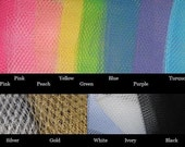 1/2 yard any color French netting fabric - 9 inch wide -  for  craft projects, veils, headbands