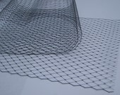 Navy Blue  -  French netting fabric - 9 inch wide -  for DIY birdcage veils and fascinators