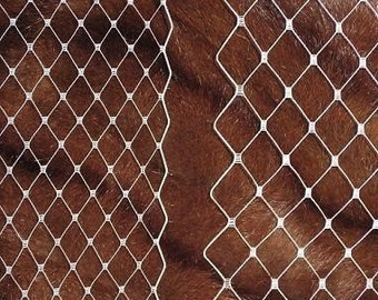 Multipack RWM- -3 types - Ivory, White or Black your choice of color  Regular and wide French netting, and English veiling