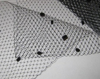 Multipack RMD Black Ivory or White Your choice of color -  3 types -  regular, dotted chenille french netting and  Merry Widow VeilingRMD