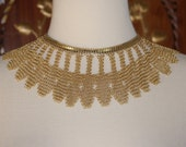 Vintage 1950s Whiting & Davis Mesh Chain Maille Choker Necklace