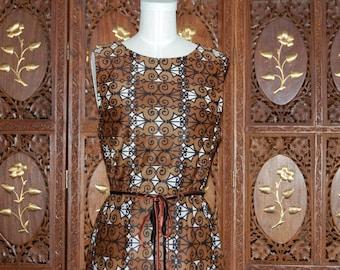 Vintage 1960s MAD MEN  Westover Walker Printed Shift Dress