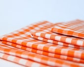 Custom Order for Linda K. 15 Orange Cloth Picnic Napkins