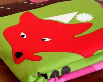 Red Fox Baby Activity Mat. Natural Baby Playmat. Non-Toxic Materials. Small Playmat or Baby Changing Pad