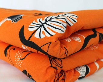 Super Size Orange Shore Birds Baby Playmat.  Washable, Packable, and Waterproof