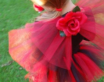 Twilight Red Rose Fairy Tutu Costume