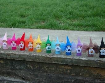 Complete set of 12 Rainbow Flower Fairy Dolls