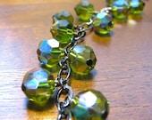 VC- Iris- Vintage Olivine Swarovski Crystals