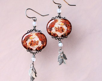 Bhagavad Gita Earrings (Lord Krishna as the Charioteer)