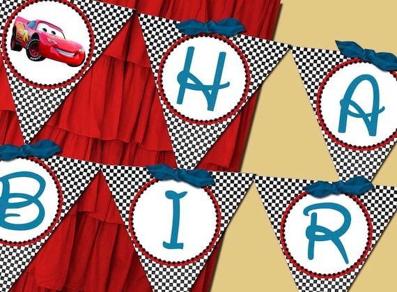 Cars Lightning Mc Queen Banner Party Printable - Stick to Your Story
