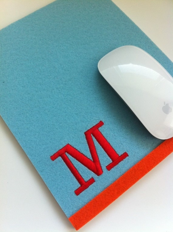 NEW Personalized Mouse FeltPad (your choice of color)