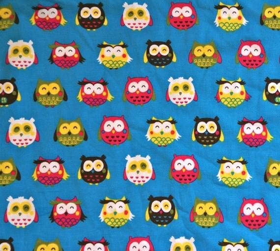 FatQuarter Organic jersey fabric 'Owls''