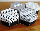 Printable hexagonal box - custom text and pattern