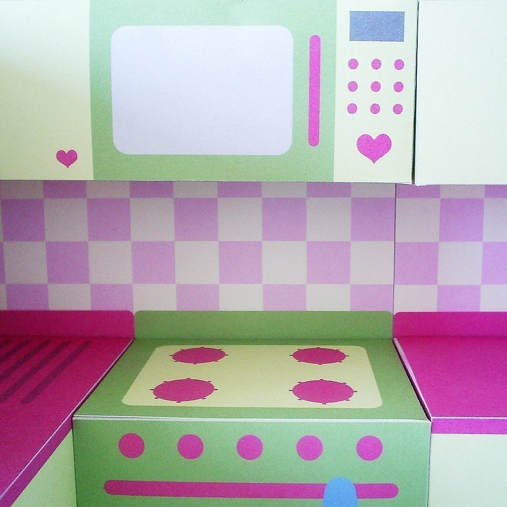 Printable Kitchen Set PDF Paper Craft