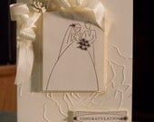 Tone on Tone Wedding Congratulations Card, Stampin Up To Have & To Hold