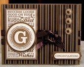 Graduation Card, Stampin Up Great Grads in Mocha