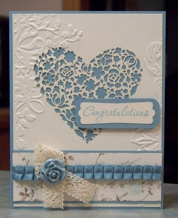 Anniversary or Wedding Congratulations Card, Stampin Up Love & Laughter