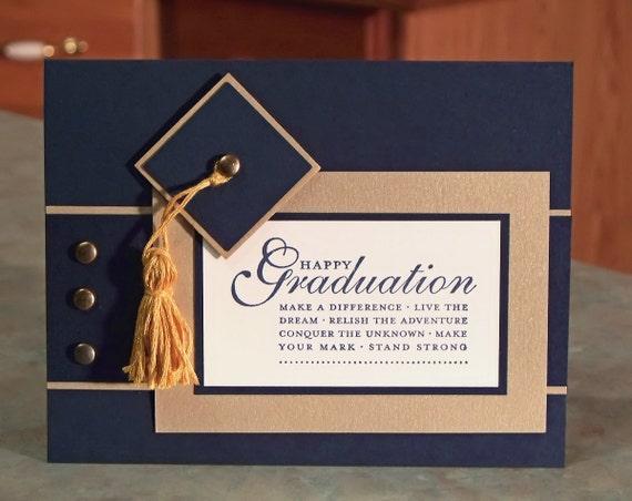 Handmade Stampin Up Happy Grad Cap And Tassel Graduation Card