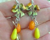 Citrus Lampwork Earrings Enameled Copper Summer Fashion July Trends