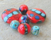 Lampwork Beads Holiday Fashion For Handmade Jewelry Valentines Gift for Her