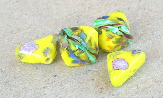 Sunshine Lampwork Beads Summer Colors July Trends