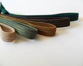 Camo Military Elastic Hair Ties- 5 Hair Accessory for Men, Children/Kids, Hunters Elastic Hair Tie