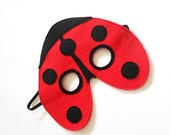 Ladybug Felt Children Mask, Eco Friendly Mask, Ladybird  Dress up Costume Accessory, Children Pretend Play Toy for Girls and Toddlers