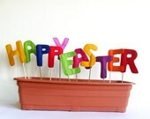 Happy Easter Decoration Sign Letters, Home - Garden Decor, Spring Colorful Children Room Decoration, Eco Friendly,  Indoor, Outdoor