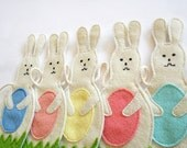 Baby Shower Gift Rabbit Garland Nursery / Room Decoration, Children, Kids Room Decor, Eco Friendly, Home and Wall Decor, Boys and Girls