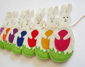 Bunny Children Room and Nursery Decoration, Baby Shower Gift, Rabbit Garland, Kids, Colorful Eco Friendly, Wall Decor