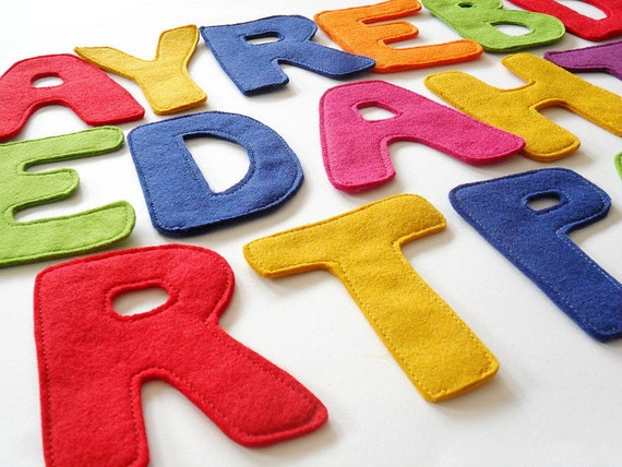 Items similar to alphabet felt letters sign children for Felt letter sign