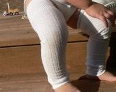 NEW ITEM White LONGER LENGTH Baby Leg\/Arm Warmers