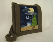 Forest Clearing Night Sky Messenger Bag