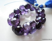 SALE - AAA Amethyst Faceted Onion Briolettes - Matched Pair 8.5mm
