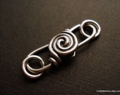 CLEARANCE - Bali Sterling Silver Spiral Hook Clasp - One set