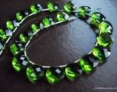 SALE - FABULOUS Spring Green Quartz Faceted Heart Briolettes - Matched Pair 11mm