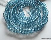 SALE - London Blue Mystic Quartz Faceted Rounds, 3.5mm - 1/2 Strand