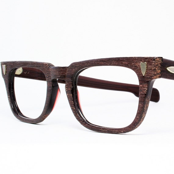 Old Eyeglass Frames New Lenses : Vintage 50s Mens Redwood Eyeglasses New Old Stock