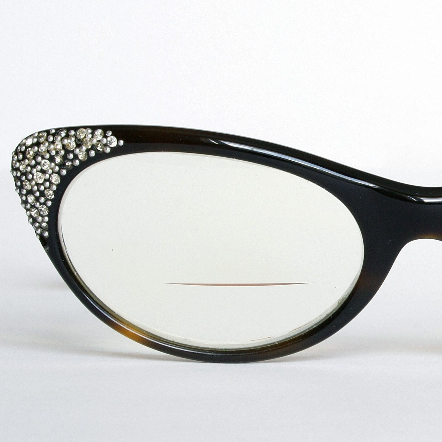 Eyeglasses Frames With Bling : Rhinestone Studded Cat Eye Glasses Frames by ...