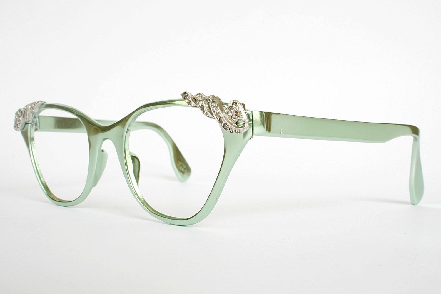 Vintage Mint Green Tura Cat Eye Glasses