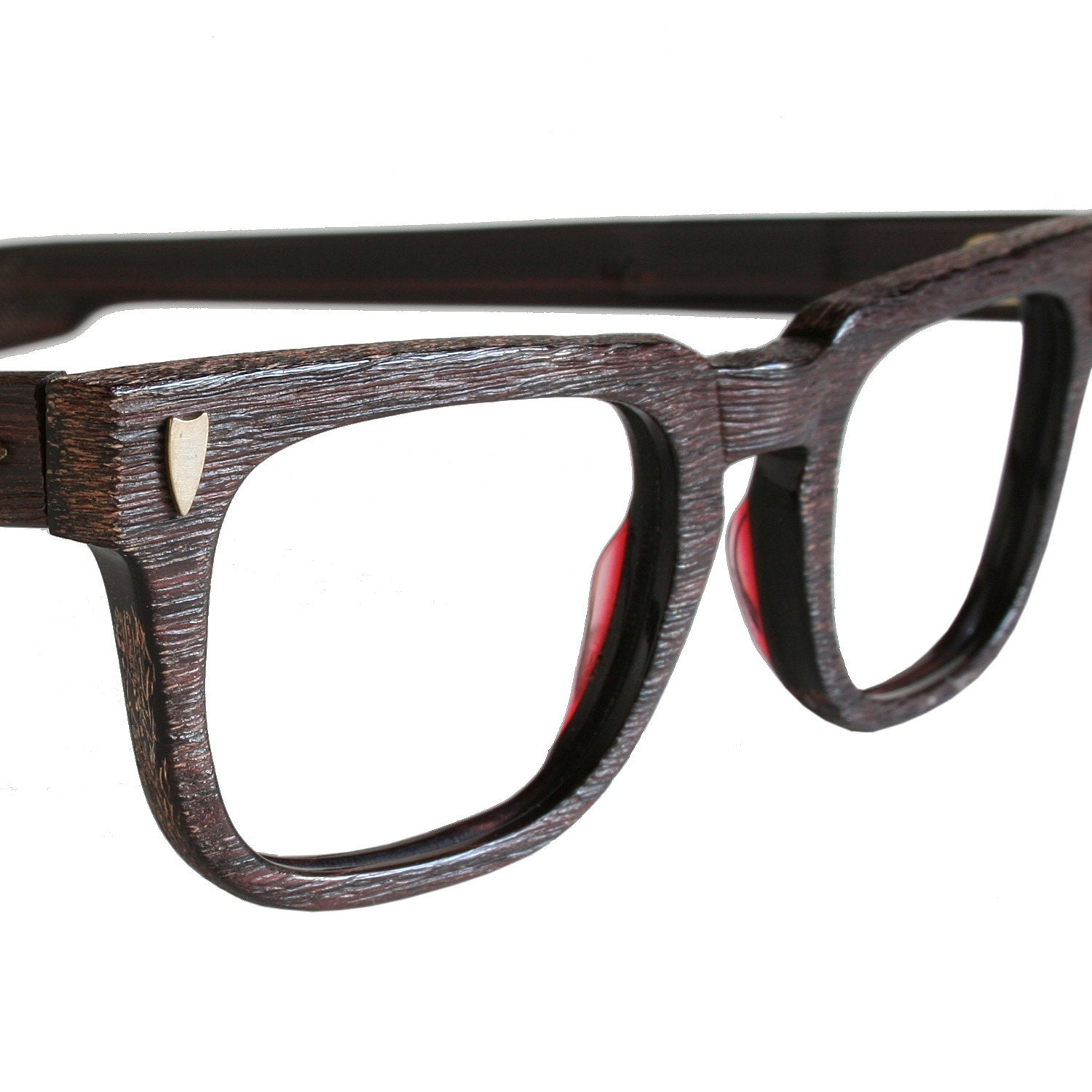 Glasses Frames Mens Style : Vintage 50s Mens Redwood Eyeglasses
