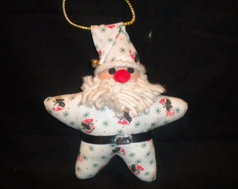 Star Santa Christmas Ornament Santa Christmas Tree Ornament Santa Claus Ornament St. Nick Ornament Christmas Gift