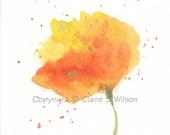 Sunshine - Original watercolor 4x4 - SALE 25% OFF