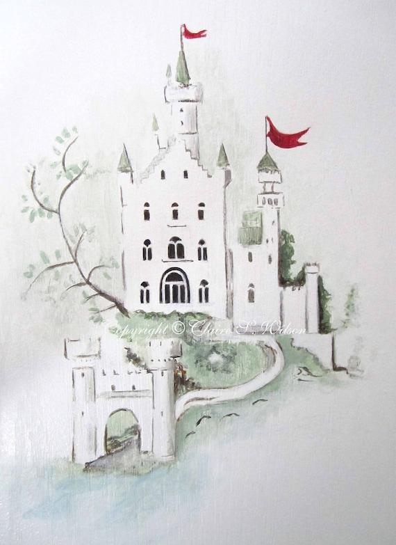 Castle ( Rhyme Thyme) -  Art Print 8x10 - Children's Room