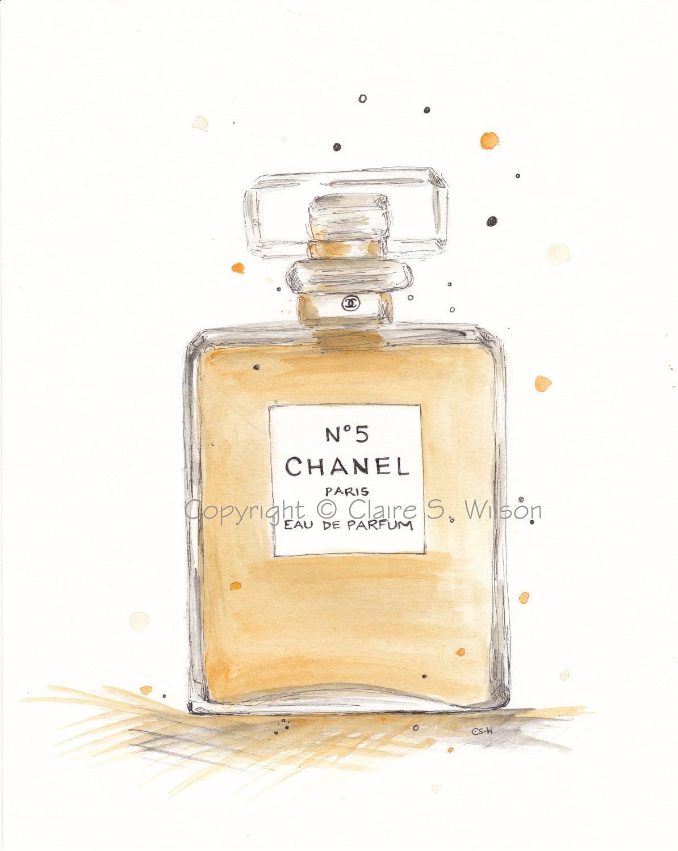 Chanel No. 5 Art Print 5x7