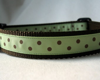 Large Brown Dots Collar
