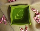 Blop blop, Felt Box, Olive Green